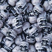 White Skull Pony Beads, 1/2-lb  (bag of 450)