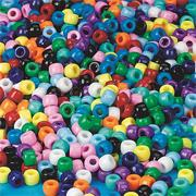Opaque Pony Beads 6x9mm  (bag of 850)