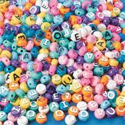 Pastel Vowel Beads, 1/2 lb. (bag of 600)
