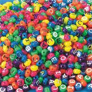 Neon Vowel Beads (bag of 600)
