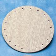 "Wood Basket Round Base 4""  (pack of 12)"