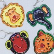 Zoo Sun Catcher Key Chains� Craft Kit (makes 12)