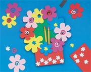 Foam Magnet Flower Pocket Holder Craft Kit (makes 12)
