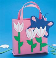 Pink Tulips Tote Bag Craft Kit (makes 12)