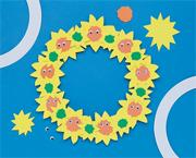 Sunflower Wreath Craft Kit (makes 12)