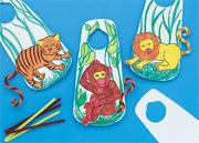 Color-Me Zoo Door Hangers Craft Kit (makes 12)