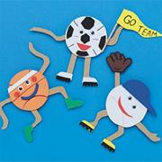 Team Sports Magnets Craft Kit (makes 12)