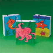 Sea Life Coloring Bags Craft Kit (makes 12)
