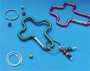 Carabiner Cross Key Ring Craft Kit (makes 12)