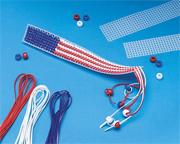 US Flag Bookmark Craft Kit (makes 12)