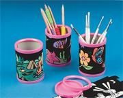 Velvet Pencil Holders Craft Kit (makes 12)