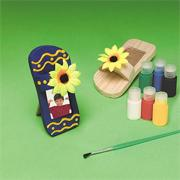 Unfinished Wood Sandal Frame Craft Kit (makes 12)