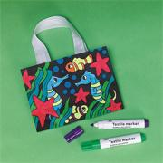 Color-Me Velvet Sealife Tote Craft Kit (makes 12)