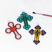 Cross Sun Catchers Craft Kit (makes 12)