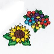 Flower Sun Catchers Craft Kit (makes 12)