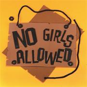 No Girls Allowed Sign Craft Kit (makes 12)