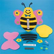 Foam Bee Thermometer Craft Kit (makes 12)