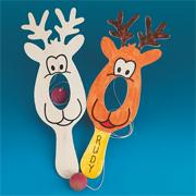 Reindeer Paddle Game Craft Kit (makes 12)