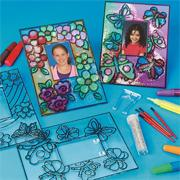 Flower and Butterfly Sun Catcher Photo Frames Craft Kit (makes 12)