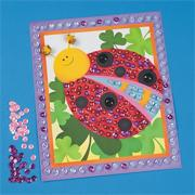Sequin Bugs Pictures Craft Kit (makes 12)
