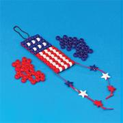 Beaded American Flag Craft Kit (makes 12)
