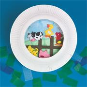 Farmtown Circle Plate Craft Kit (makes 12)