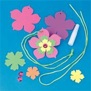 Foam Flower Necklace Craft Kit (makes 24)