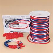 Patriotic Bracelet Craft Kit (makes 48)