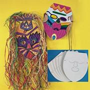 Blank Cardboard Face Masks  (pack of 25)