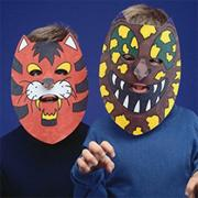 Color-Me Masks - Unprinted Animal  (pack of 24)