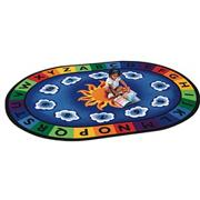 Sunny Day Learn &amp; Play Oval Carpet