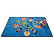Give The Planet A Hug Rug, 5&#039;5&quot; x 7&#039;8&quot;