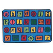 Alphabet Blocks Kids Value Rug (dozen)