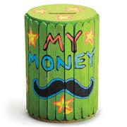 Craft Stick Barrel Bank Craft Kit  (makes 25)