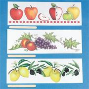 Fruit Rub-Ons (pack of 12)