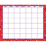 Calendar Grid with Red Fizz Border