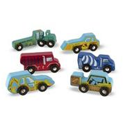 6-Piece Wooden Construction Vehicle Set