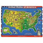 Melissa &amp; Doug USA Map Sound Puzzle