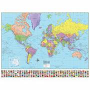 World Advanced Political Rolled Map Paper
