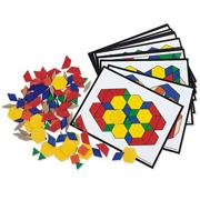 Pattern Blocks and Activity Cards Set (set of 36)