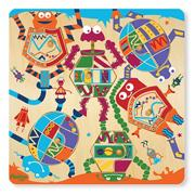 12-Piece Puzzle Mix and Match � Robot