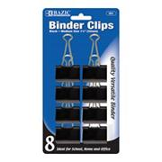 Black Binder Clips, Medium