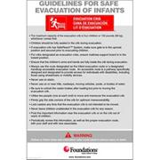 Foundations� First Responder� Evacuation Protocol Signs