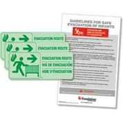 Evacuation Route Signs (pack of 3)