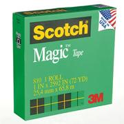 Scotch Magic Tape 810, 1&quot; (pack of 3)