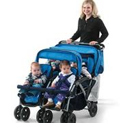 Quad - 4 Passenger/Dual Canopy Folding Stroller