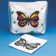 Color-Me� Drawstring Bag with Velvet Art Butterfly (pack of 12)