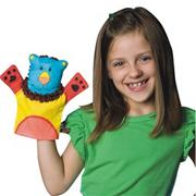 Color-Me� Fabric Animal Hand Puppets  (pack of 24)