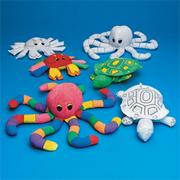 Color-Me Fabric Sealife Creatures  (pack of 12)