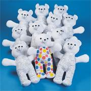 Color-Me Teddy Bears (pack of 12)
